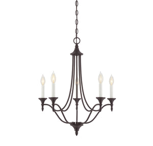 811030 - Five Light Chandelier - English Bronze