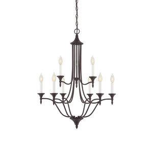 811032 - Nine Light Chandelier - English Bronze