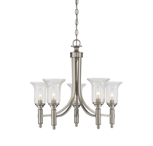 811096 - Five Light Chandelier - Satin Nickel