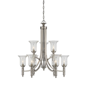 811097 - Nine Light Chandelier - Satin Nickel