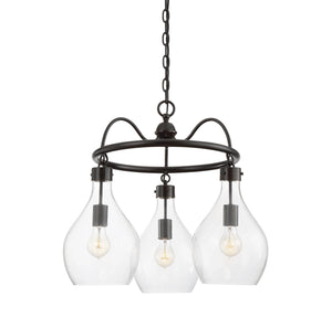 811019 - Three Light Chandelier - Oiled Bronze