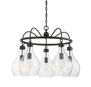 811018 - Five Light Chandelier - Oiled Bronze