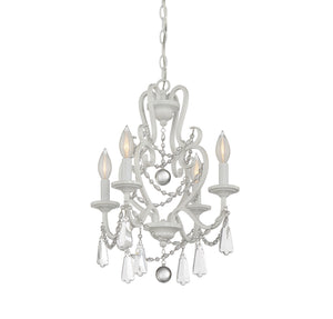 811081 - Four Light Mini Chandelier - Matte White