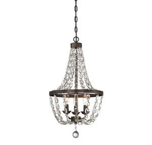 811088 - Three Light Mini Chandelier - Oiled Burnished Bronze