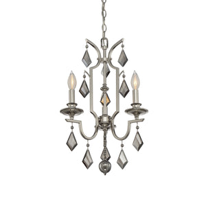 811086 - Three Light Chandelier - Polished Nickel
