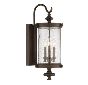 811058 - Three Light Wall Lantern - Walnut Patina