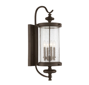 811055 - Four Light Outdoor Wall Lantern - Walnut Patina