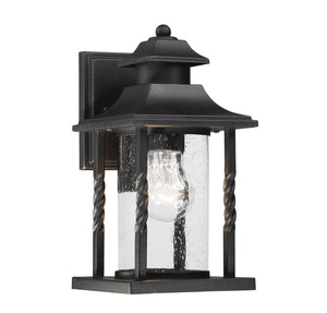 811400 - One Light Outdoor Wall Lantern - Textured Black