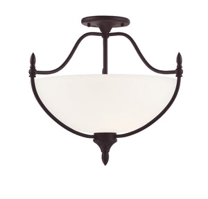 811448 - Three Light Semi-Flush Mount - English Bronze
