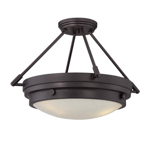 811422 - Three Light Semi-Flush Mount - English Bronze