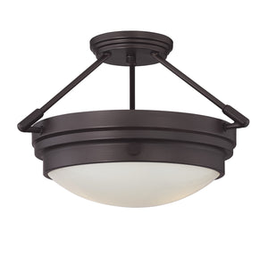 811428 - Two Light Semi-Flush Mount - English Bronze