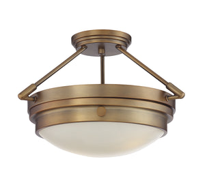 811426 - Two Light Semi-Flush Mount - Warm Brass