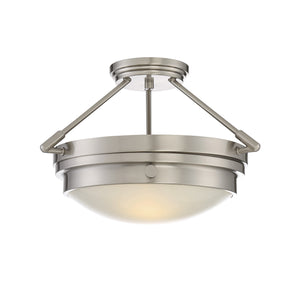 811427 - Two Light Semi-Flush Mount - Satin Nickel
