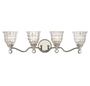 811469 - Four Light Bath Bar - Polished Nickel