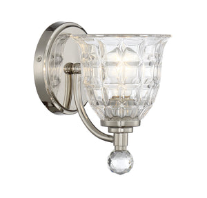 811454 - One Light Wall Sconce - Polished Nickel