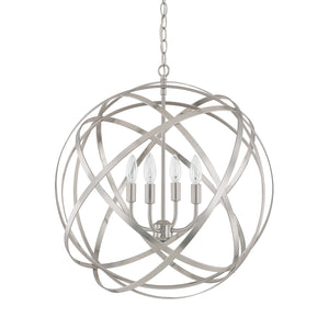 852309 - Four Light Pendant - Brushed Nickel