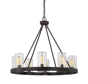 603336 - Eight Light Outdoor Chandelier - English Bronze