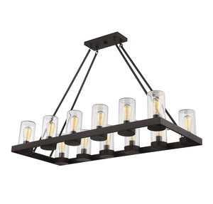 603337 - 12 Light Outdoor Chandelier - English Bronze