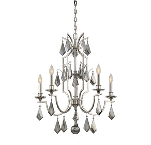 603368 - Five Light Chandelier - Polished Nickel