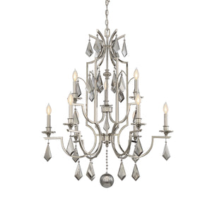 603366 - Nine Light Chandelier - Polished Nickel