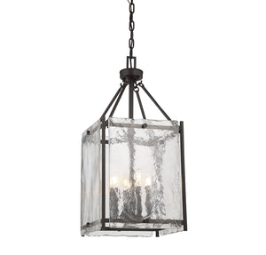 603378 - Four Light Foyer Pendant - English Bronze
