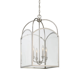603375 - Four Light Foyer Pendant - Polished Nickel