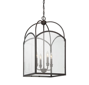 603350 - Four Light Foyer Pendant - English Bronze