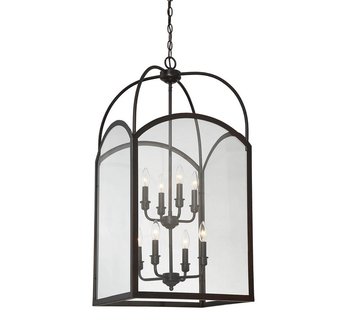 Eight Light Foyer Pendant