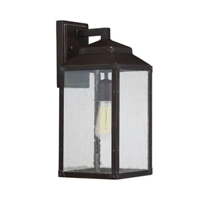 603930 - One Light Outdoor Wall Lantern - English Bronze w/ Gold