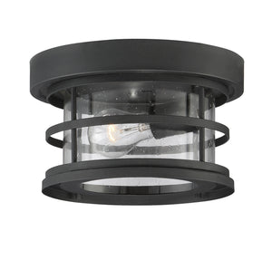 603990 - One Light Outdoor Ceiling Mount - Black