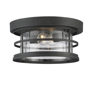 603992 - Two Light Outdoor Ceiling Mount - Black