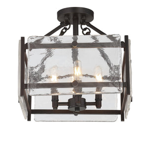 603919 - Four Light Semi Flush Mount - English Bronze
