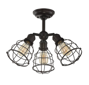 603988 - Three Light Semi-Flush Mount - English Bronze