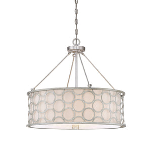 603963 - Four Light Pendant - Silver Leaf