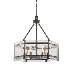 603974 - Six Light Pendant - English Bronze