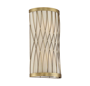 603120 - Two Light Wall Sconce - Warm Brass
