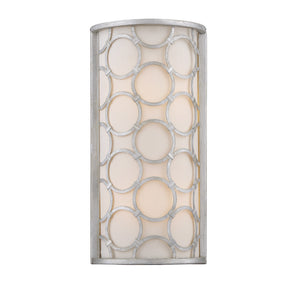 603124 - Two Light Wall Sconce - Silver Leaf