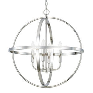 642921 - Four Light Pendant - polished Nickel