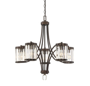 612485 - Five Light Chandelier - Burnished Bronze