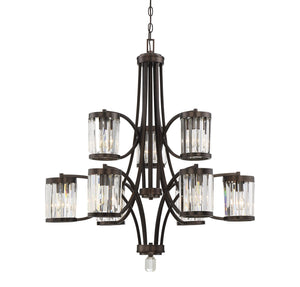 612460 - Nine Light Chandelier - Burnished Bronze