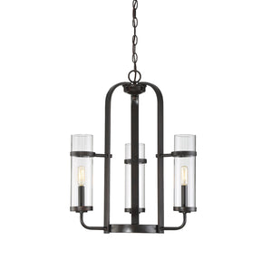 612452 - Three Light Chandelier - English Bronze
