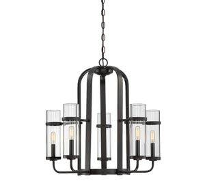 612453 - Five Light Chandelier - English Bronze