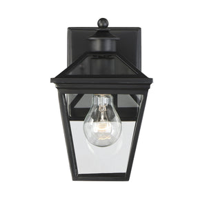 612205 - One Light Outdoor Wall Lantern - Black
