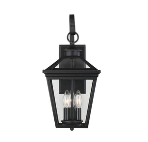 612240 - Three Light Wall Lantern - Black