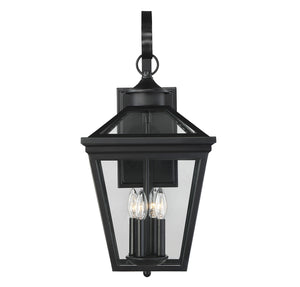 612244 - Four Light Outdoor Wall Lantern - Black