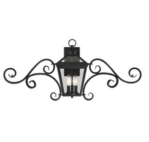 612242 - Three Light Wall Lantern - Black