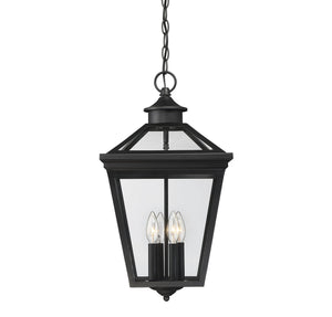 612243 - Four Light Outdoor Hanging Lantern - Black