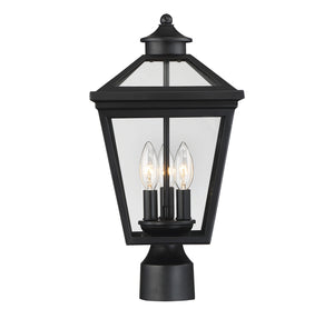 612241 - Three Light Post Lantern - Black