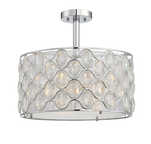 612296 - Three Light Semi-Flush Mount - Polished Chrome