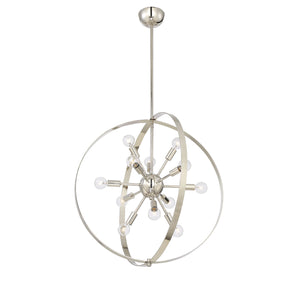 612262 - 12 Light Chandelier - Polished Nickel